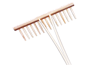 Traditional full wooden rakes, for home and garden or as decoration
